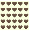 Seamless pattern with cute brown hearts on a vector image vector image