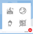 set 4 modern ui icons symbols signs for couple