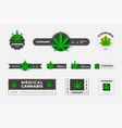 set logos organic hemp sbd and thc on a vector image