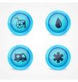 set medical icons on white background vector image