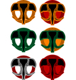 set of faces of elphant vector image