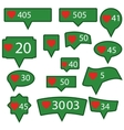 Set of Green Icons vector image vector image