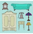 Set of icons for living room vector image vector image