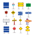 set of road sign vector image