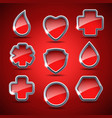 set of the medical icons vector image vector image