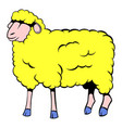 sheep icon cartoon vector image vector image
