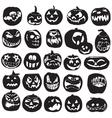 silhouettes halloween pumpkin vector image vector image