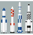 Space rockets vector image vector image