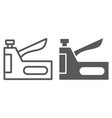 staple gun line and glyph icon tool and repair vector image vector image