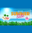 summer sale background for template design vector image vector image