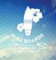 Surfing summer icon label vector image vector image