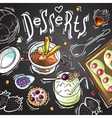 sweets food top view vector image