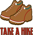Take A Hike vector image vector image