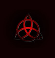 triquetra logo trinity knot wiccan red symbol vector image vector image