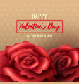 valentines day background with red roses vector image vector image