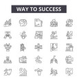 way to success line icons for web and mobile vector image vector image