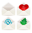 white envelope valentines day and christmas vector image