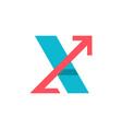 x letter logo vector image