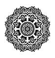Black and white Mandala symbol vector image