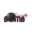 Bomb logo vector image