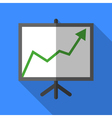 Colorful chart board icon in modern flat style vector image