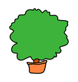 A view of tree vector image vector image