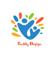 abstract family with kid icon together vector image vector image