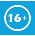 Age restriction sign icon vector image