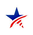 american star creative symbol graphic design vector image vector image