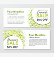 banners template round background with dots vector image vector image