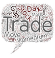 Better Trades Momentum Part text background vector image vector image