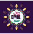 big diwali sale poster design vector image