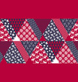 blue and red christmas naive seamless pattern vector image