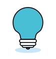 bulb light idea flat icon vector image