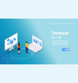 business concept peoples working ui ux vector image