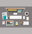 business corporate organization devices vector image vector image