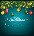 christmas fir decoration card vector image