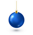 christmas tree shiny blue ball new year vector image