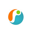 circle round abstract ecology logo vector image vector image