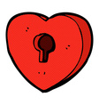 comic cartoon heart with keyhole vector image vector image