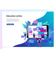 concept education people internet studying vector image