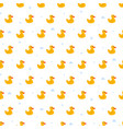 cute ducky floats on pond seamless pattern vector image