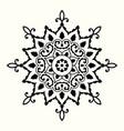 decorative mandala with circular ornament vector image vector image