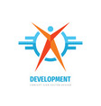 development human logo template design people vector image vector image