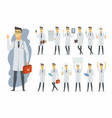 doctor - cartoon people character set vector image
