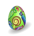Easter egg with bright candy pattern vector image