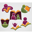 Educational and reading symbols and icons vector image