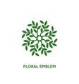 floral emblem vector image
