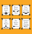funny conceptual halloween phrases and words cards vector image vector image