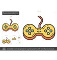 Game controller line icon vector image